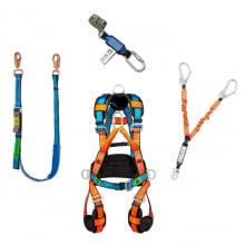 Kit Cinto Cinturão Paraquedista, Talabartes Posicionamento e Ancoragem e Trava Quedas Corda