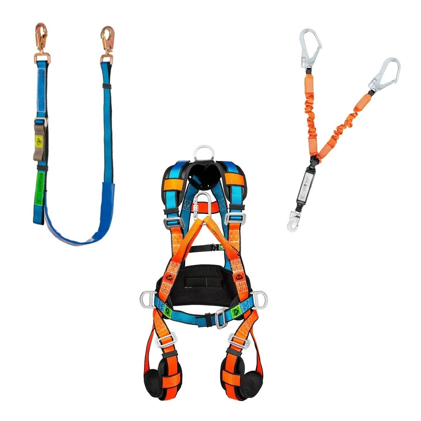 Kit Cinto Cinturão Paraquedista com Talabartes Posicionamento e Ancoragem